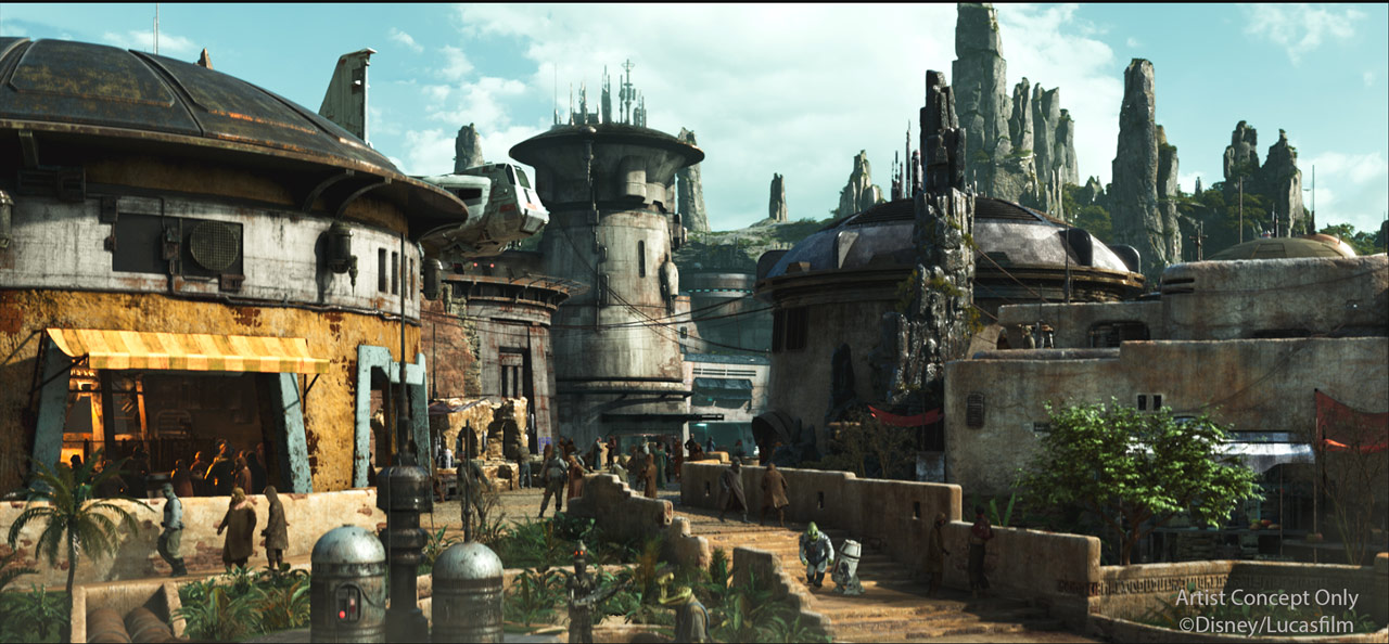 story for star wars galaxys-edge-black-spire-outpost village