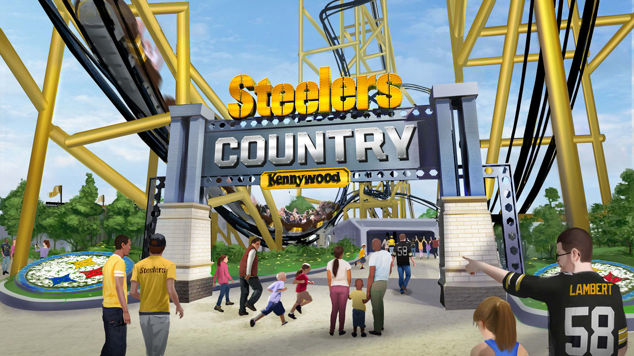 Steelers country coaster art theme park news kennywood