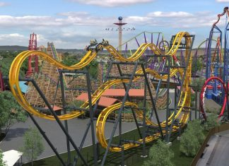 dc universe six flags batman coaster