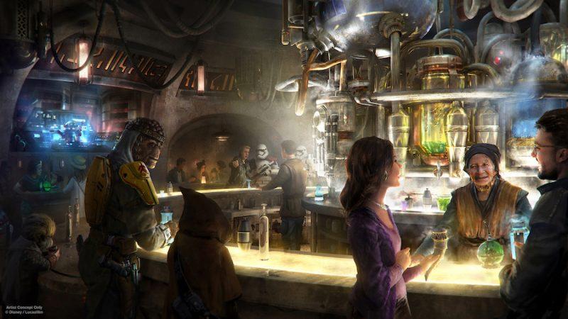 guerres-étoiles-galaxys-bord-ogas cantina guerres étoiles aliments et boissons