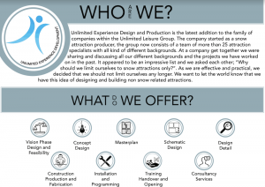 Unlimited Experience Brochure