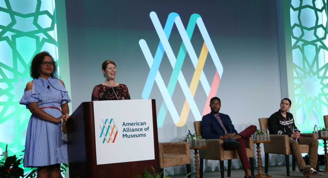 Keynote speakers at American Alliance of Museums Kayleigh and Suze