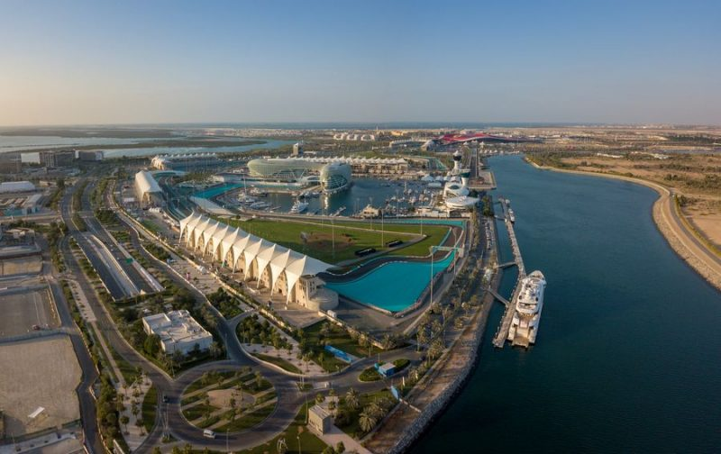 aerial photo of Yas Island