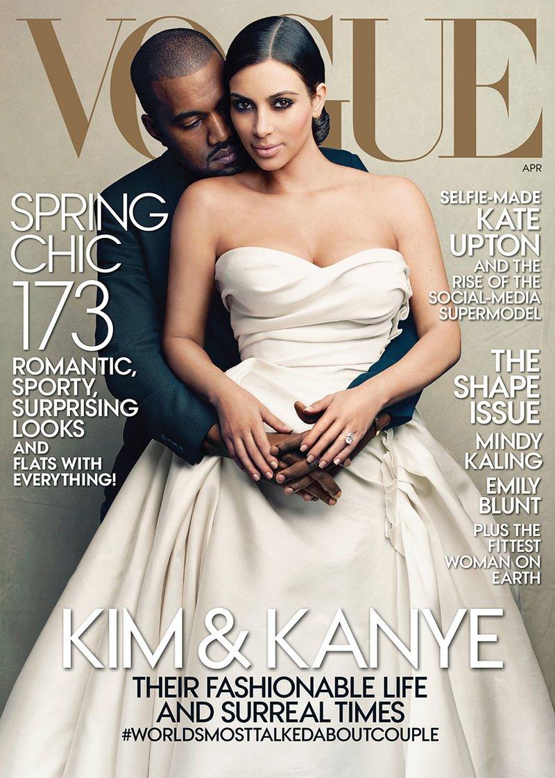 kim kanye vogue cover celebrity influencers