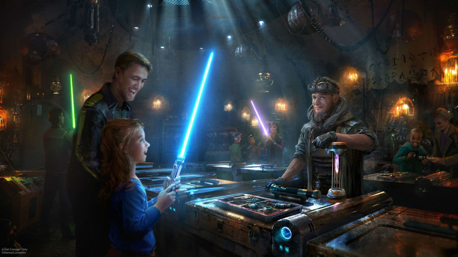 Galaxy's Edge interactive experiences Savi's Workshop star wars galaxys edge merchandise
