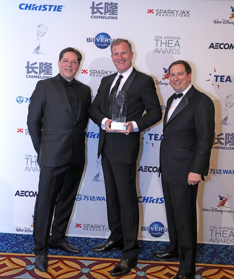 Joseph Cortina of Cortina Productions with Robert Shenk and Matt Briney of George Washington's Mount Vernon TEA Summit 2019 Thea Awards