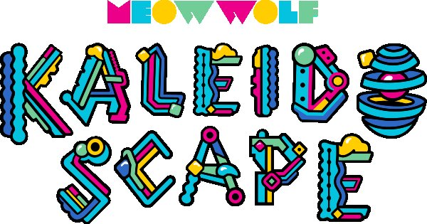 Meow Wolf dark ride Kaleidoscape logo