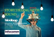 InfoComm Blooloop attractions technology storytelling with sound