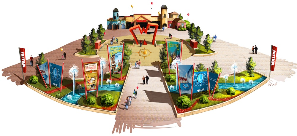 Walibi Belgium new entrance 2020