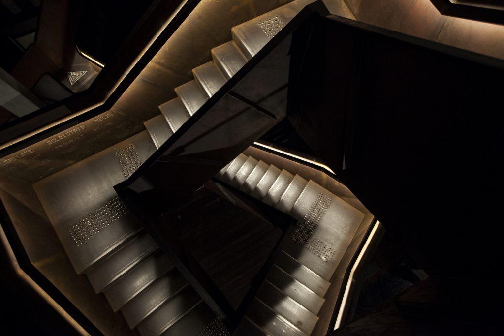 MONA museum-interior---corten-staircase