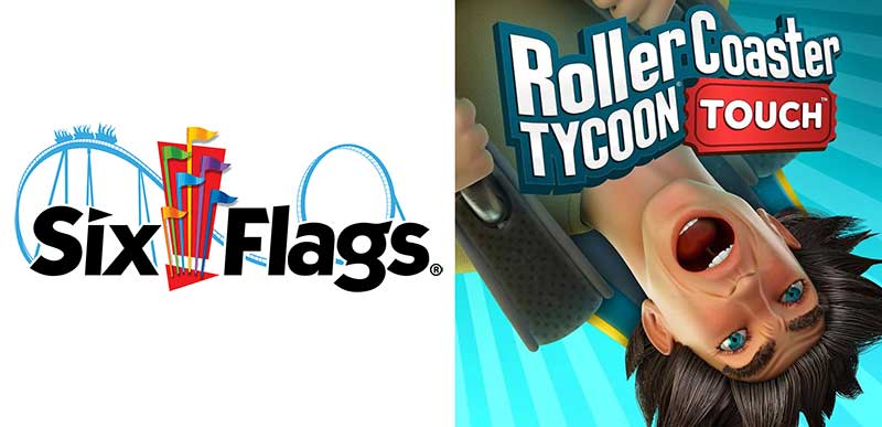 Atari Six Flags content partnership for RollerCoaster Tycoon