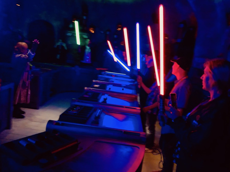 Lightsaber activation at Savi's Workshop