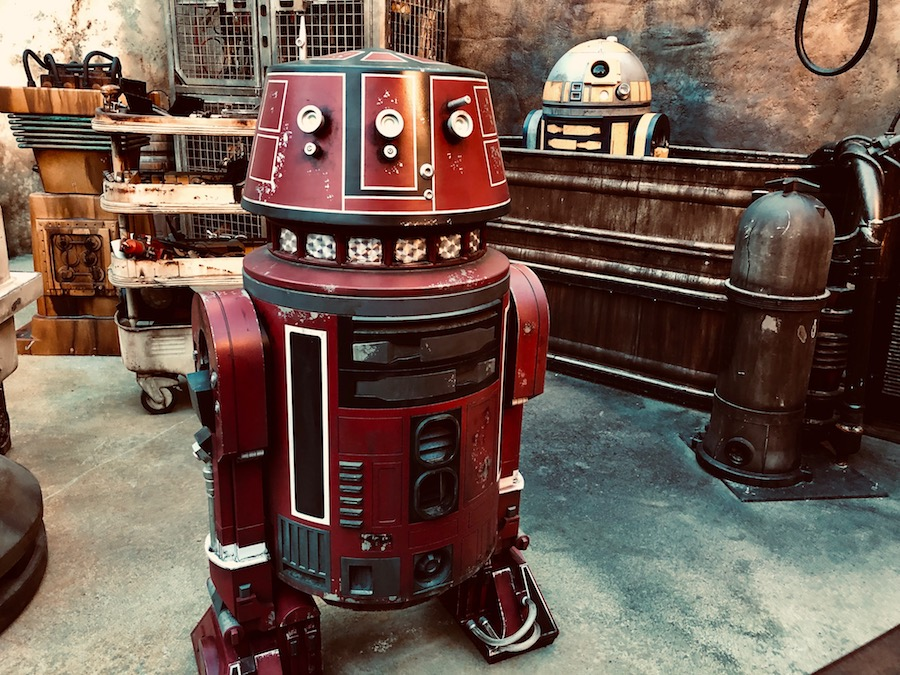 The droid bath at Droid Depot blooloop