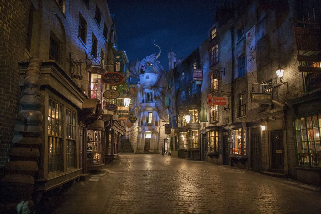 Diagon Alley Universal Studios - an example of creating an immersive narrative experience using IP