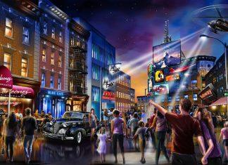 Concept art for London Resort Street Scene 2019