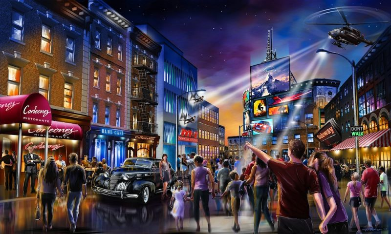 Concept art for London Resort Street Scene 2019
