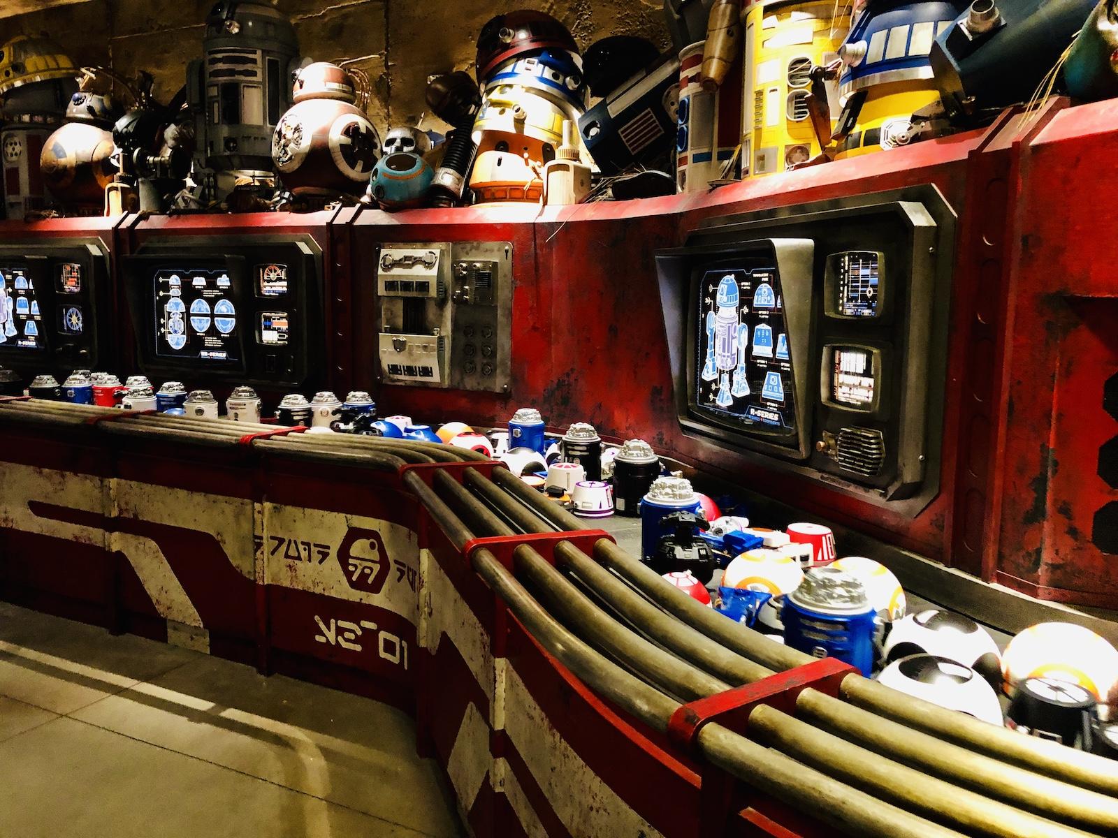 Galaxy's Edge droids at depot