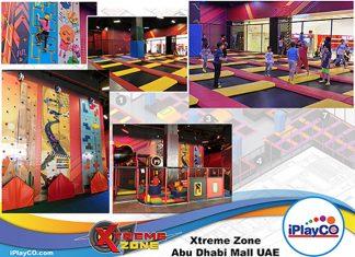 iPlayCO, Xtreme Zone, Dubai, trampolines, climbing walls, soft play, playground
