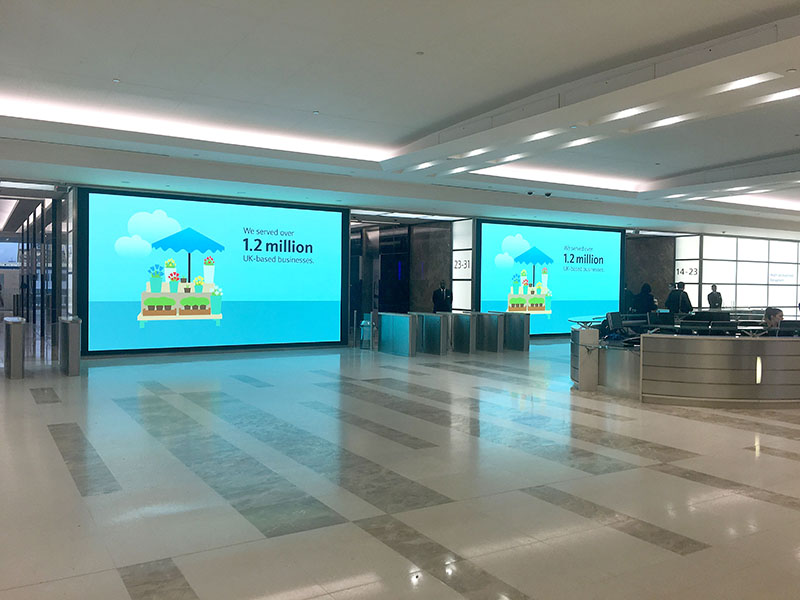 Barclays Videowall electrosonic inspired space
