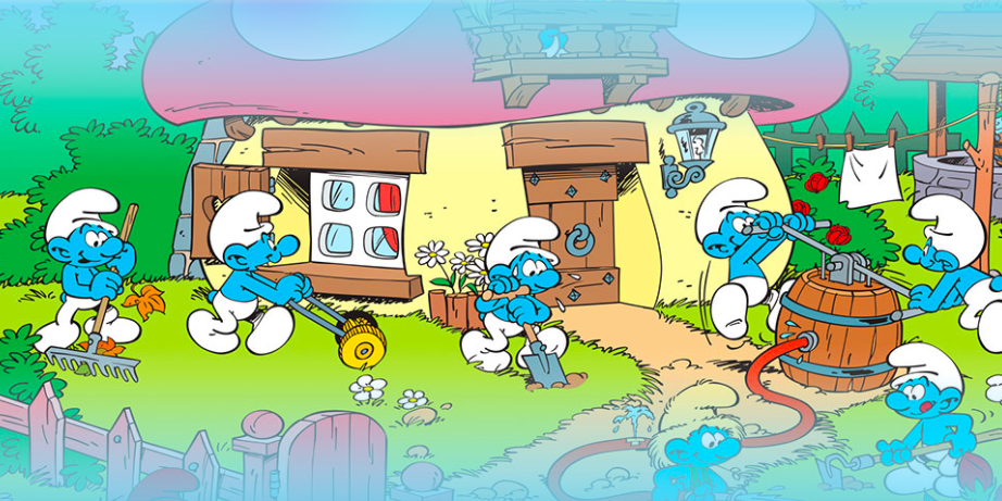 dream island theme park smurfs zone