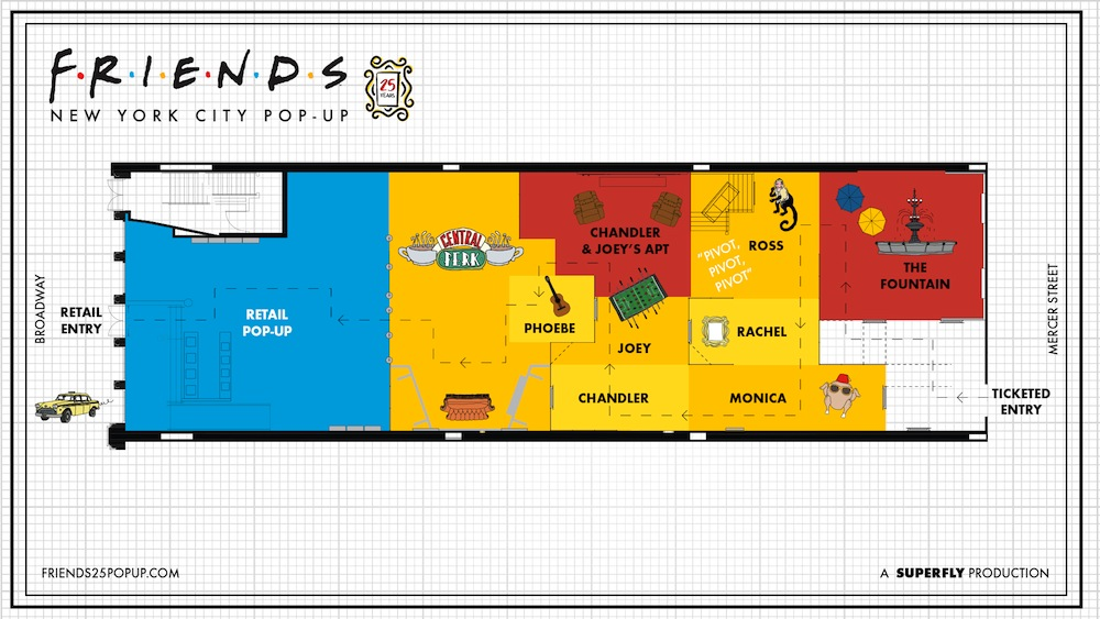 Friends pop-up experience Layout