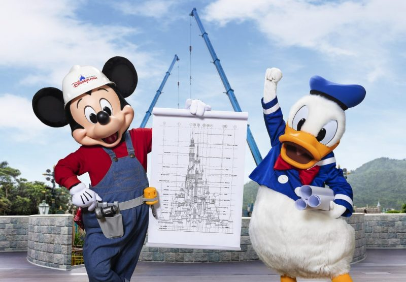 castle transformation at hong kong disneyland, number 17 on our list of the world's top theme parks of the decade