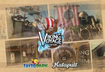 Viking Voyage at the Park Tayto Park and Katapult queue line