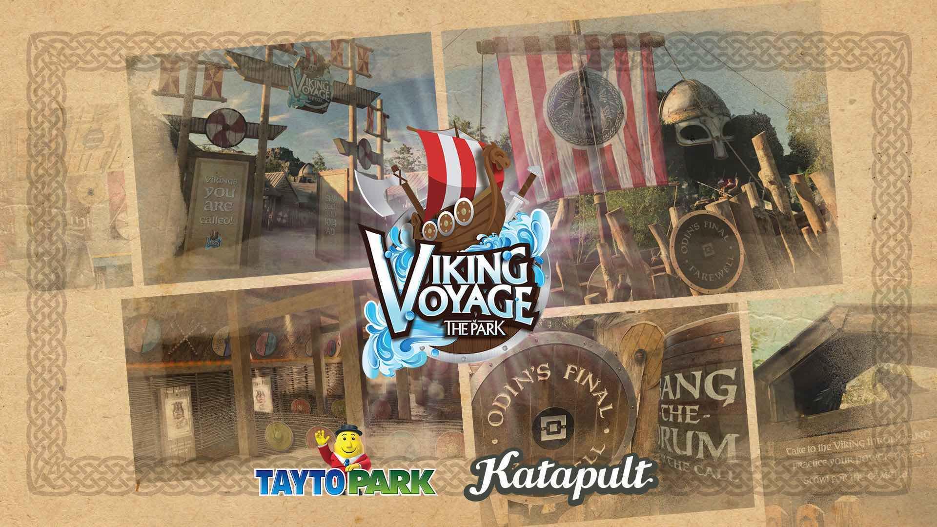 Viking Voyage at the Park Tayto Park and Katapult queue line