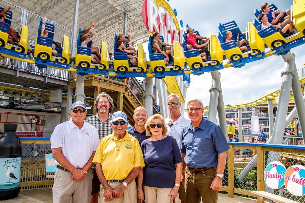 JRA runaway tram coaster Morey's piers