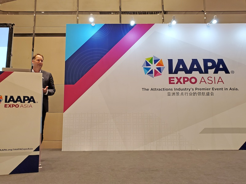 JRA's Shawn McCoy speaking at IAAPA Expo Asia back in June