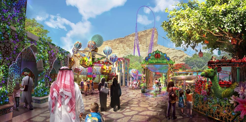 Six Flags Qiddiya Twilight Gardens