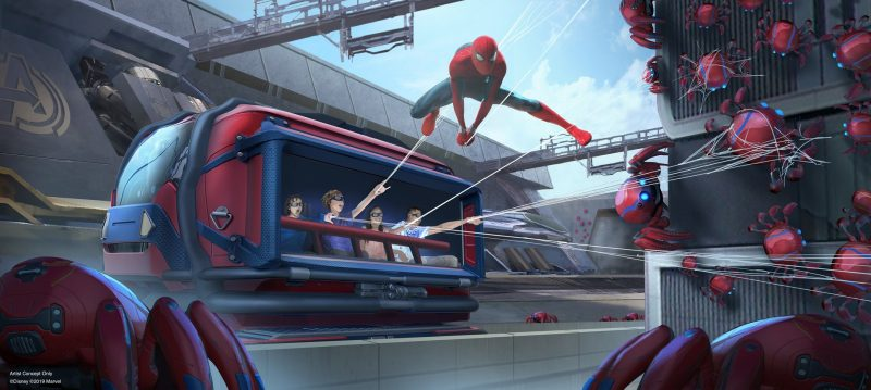 disney marvel spider-man avengers campus