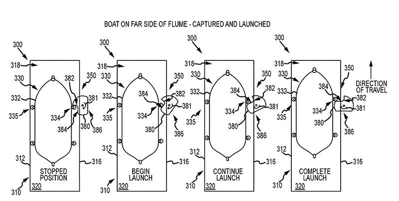 disney patents capturepult boat water ride mechanism