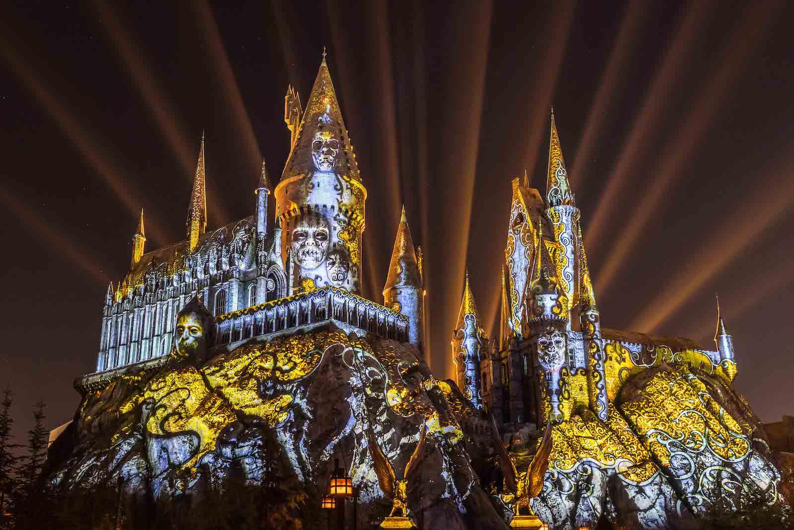 Universal Orlando   Dark Arts Hogwarts Castle projection ... on california orlando, windsor hills orlando, baldwin park orlando, sunland orlando, hollywood orlando,