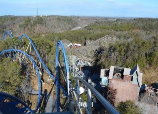 Dollywood from atop Wilde Eagle