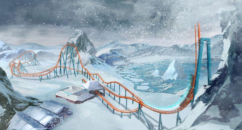 seaworld ice breaker roller coaster