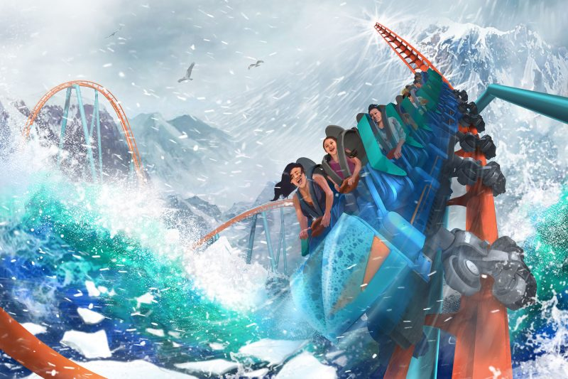 seaworld ice breaker roller coaster