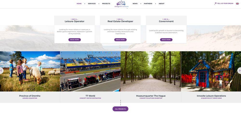 Imagine Leisure website layout
