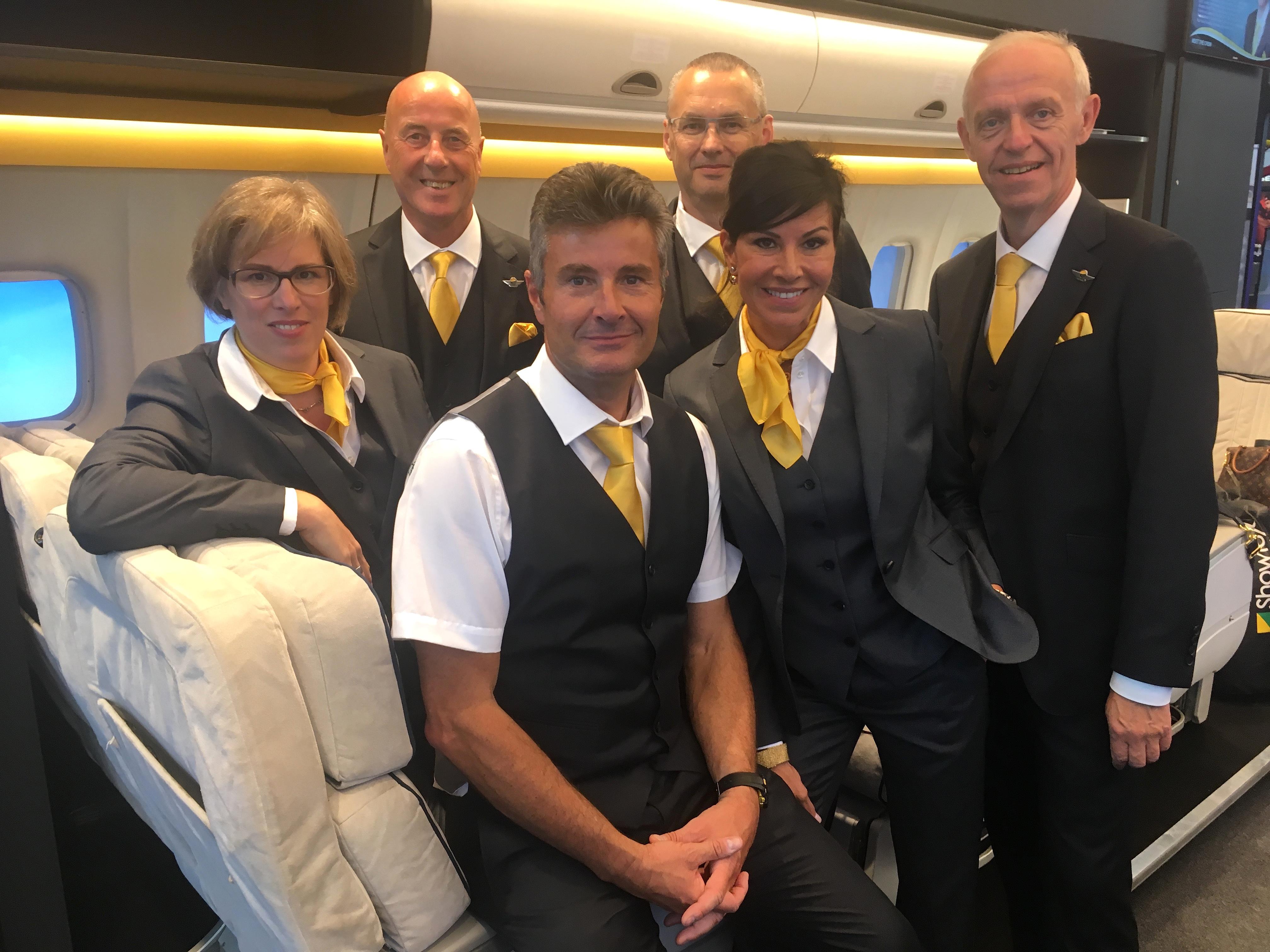 The Captain Jack crew at IAAPA Expo Europe (from left to right): Elke Vandersypen, Reinoud van Assendelft de Coningh, Jack Schoepen, Dirk Daems, Myriam Schoepen and Erik Jacquemyn.