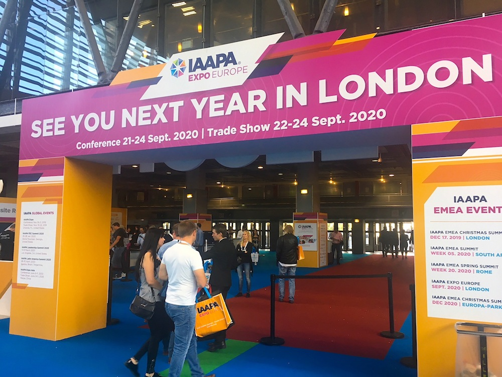 """IAAPA Expo Europe 2019 review see you in London IEE 2019"
