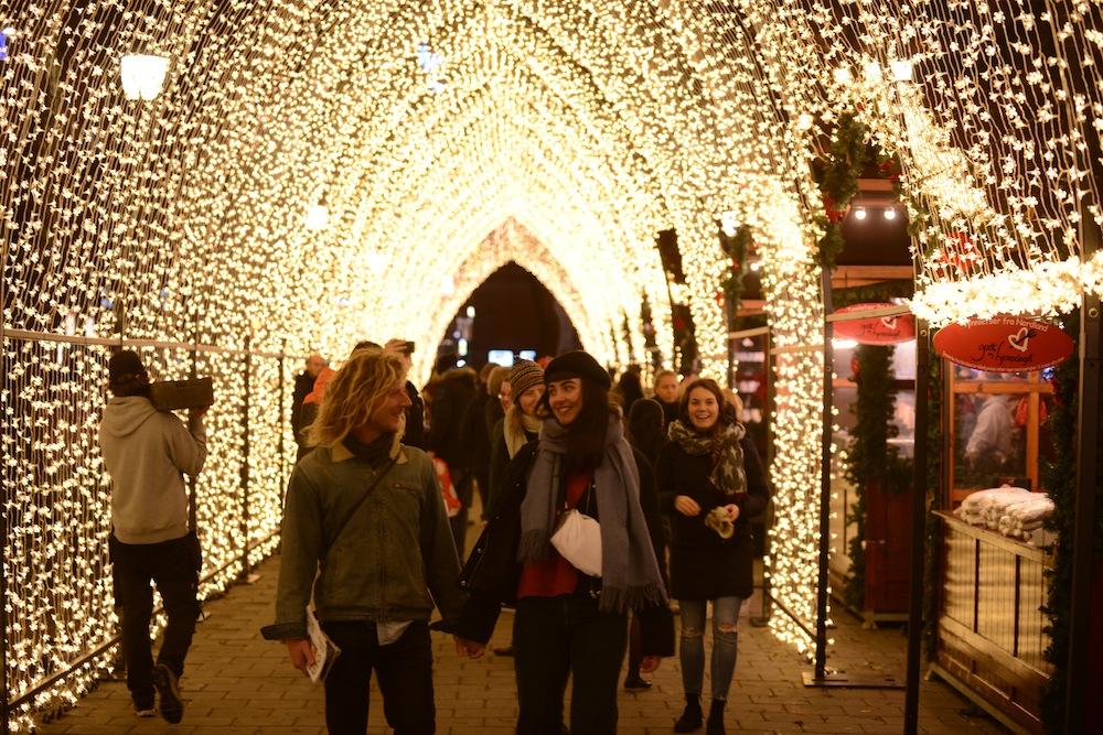 Lund Gruppen Light tunnel Jul i Vinterland