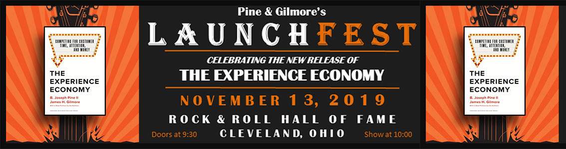 joe pine experience economy launchfest