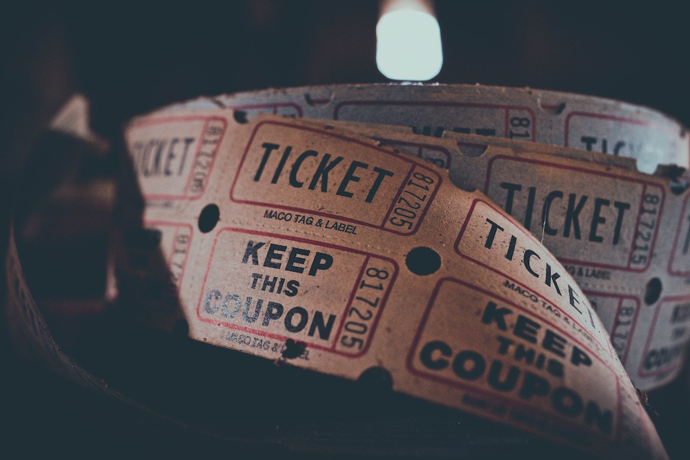 roll of old fashioned tickts