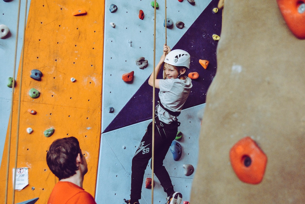 Indoor climbing wall adventure parks