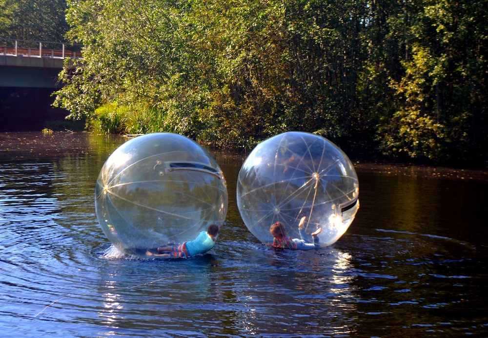 Zorbing on water active entertainment