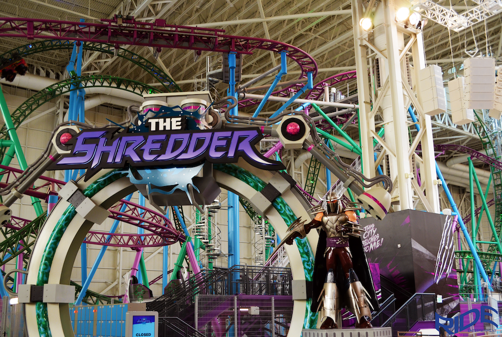 shredder nickelodeon universe ride entertainment