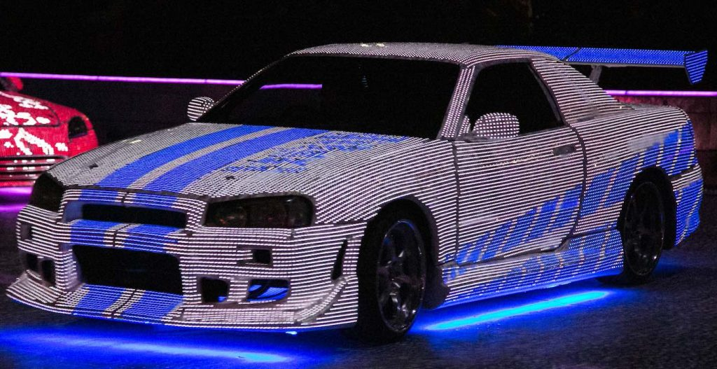 LED Car in Movie World stunt show by SEP