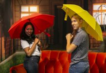 Friends Pop-up Experience umbrellas