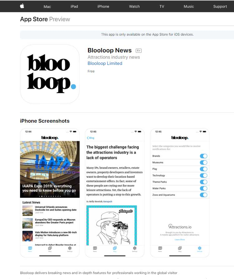 Blooloop News App