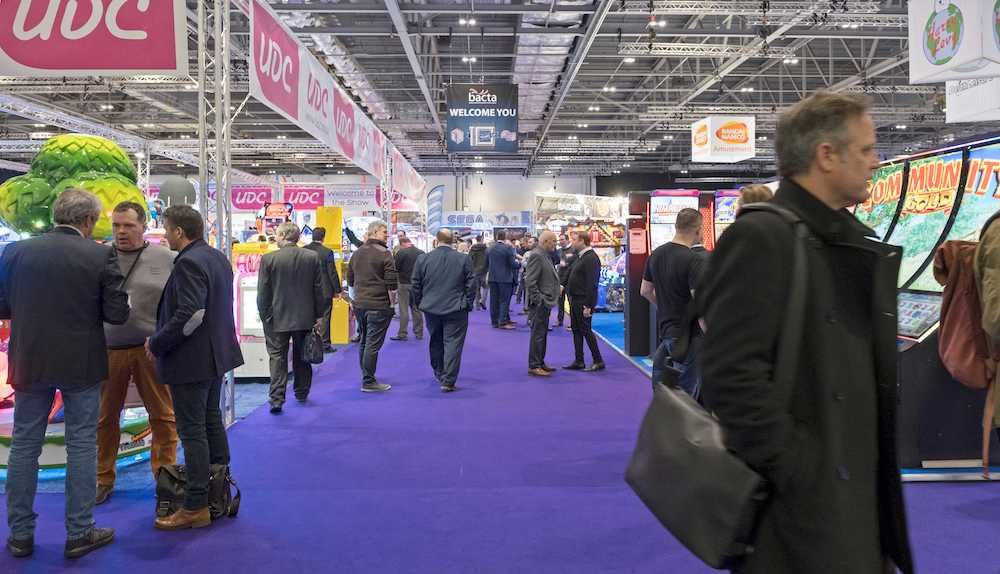 Trade show floor at the EAG International Expo